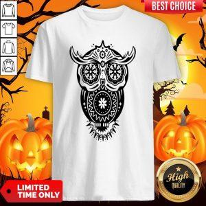 The Mexican Owl Sugar Skulls Dia De Los Muertos Day Dead Shirt