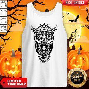 The Mexican Owl Sugar Skulls Dia De Los Muertos Day Dead Tank Top