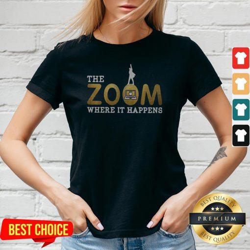 The Zoom Where It Happens V-neck