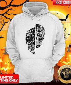 Two Faces Sugar Skull Dia De Los Muertos Day Of The Dead Hoodie