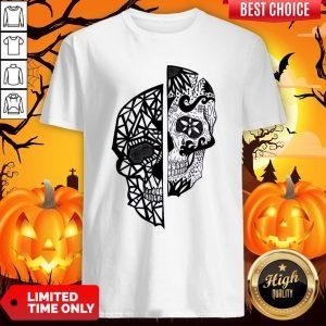 Two Faces Sugar Skull Dia De Los Muertos Day Of The Dead Shirt
