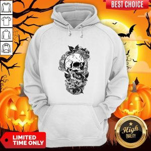 Vintage Sugar Skull With Flower Lover Day Of The Dead Hoodie