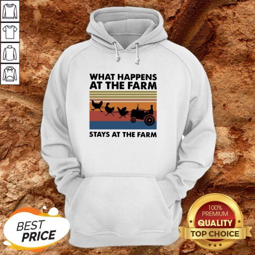 What Happens At The Farm Stays At The Farm Vintage Retro HoodieWhat Happens At The Farm Stays At The Farm Vintage Retro Hoodie