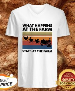 What Happens At The Farm Stays At The Farm Vintage Retro V-neckWhat Happens At The Farm Stays At The Farm Vintage Retro V-neck