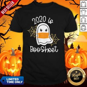 Womens Cute Kawaii Ghost 2020 Is Boo Sheet Halloween Shirt