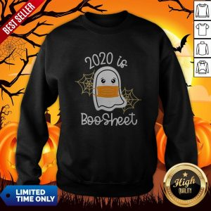 Womens Cute Kawaii Ghost 2020 Is Boo Sheet Halloween Sweatshirt