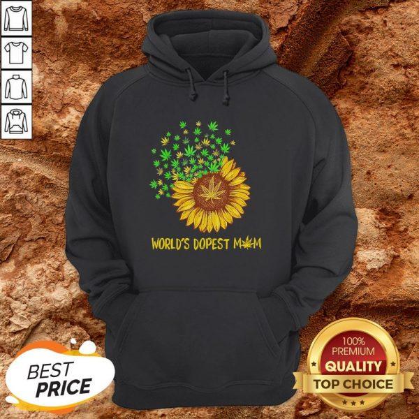 World's Dopest Mom Sunflower Weed Hoodie