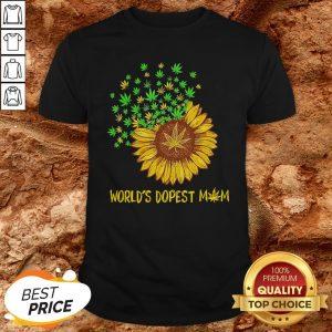 World's Dopest Mom Sunflower Weed Shirt