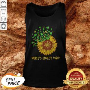 World's Dopest Mom Sunflower Weed Tank Top