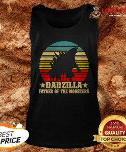 Dadzilla Father Of The Monsters Vintage Retro Tank Top