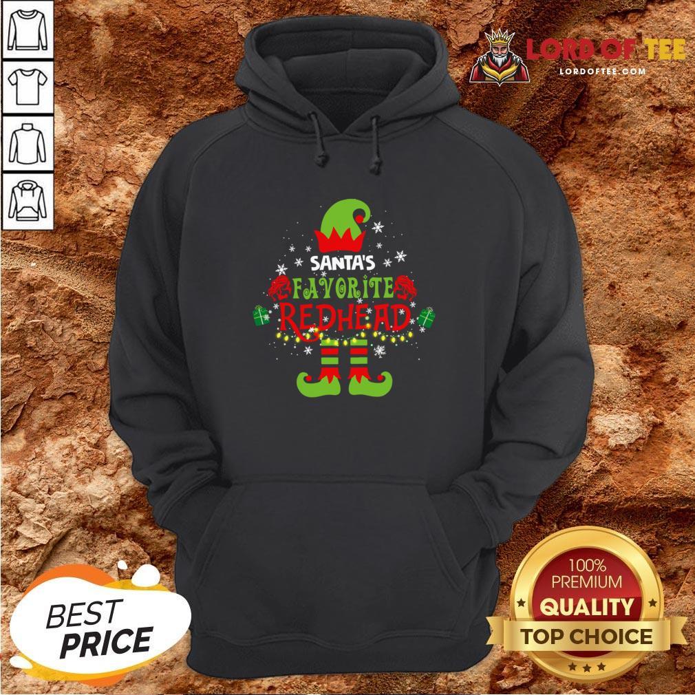 Funny Santa's Favorite Redhead Christmas Hoodie Design By Lordoftee.com