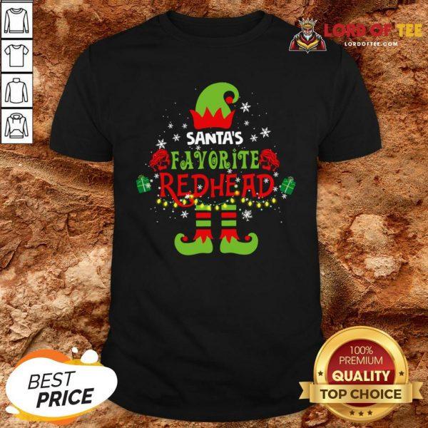 Funny Santa's Favorite Redhead Christmas Shirt Design By Lordoftee.com