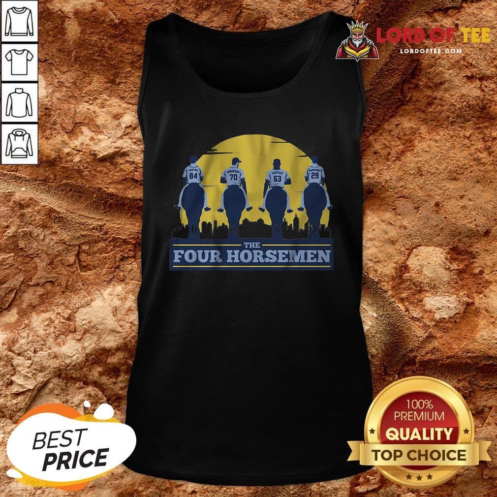 Funny THE FOUR HORSEMEN Vintage Tank Top Design By Lordoftee.com