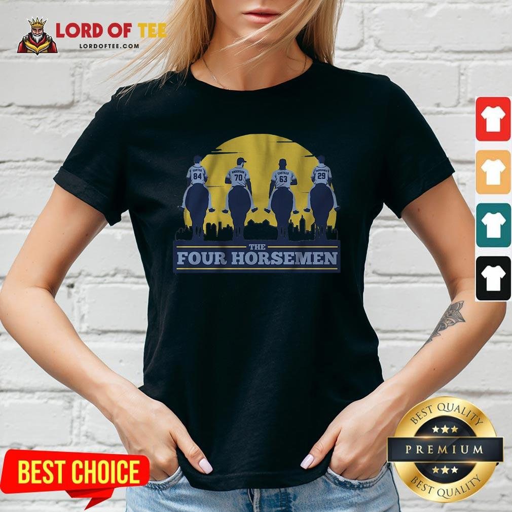 Funny THE FOUR HORSEMEN Vintage V-neck Design By Lordoftee.com