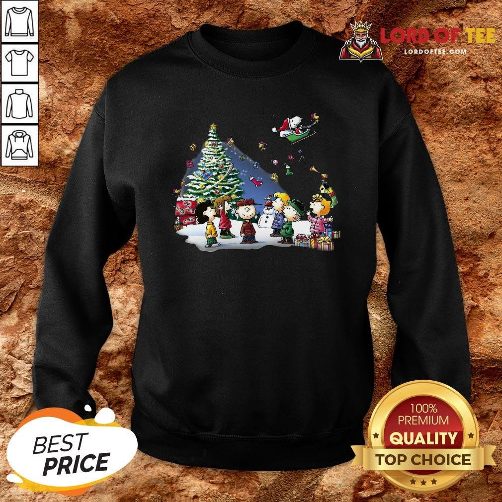 Funny The Peanuts Characters Merry Christmas Sweatshir Design By Lordoftee.comt
