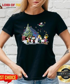Funny The Peanuts Characters Merry Christmas V-neck Design By Lordoftee.com