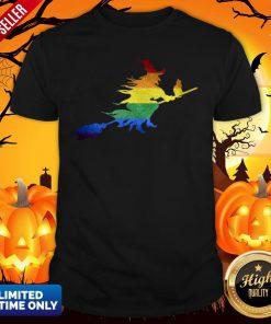 Gay Witch Lesbian LGBT Pride Halloween ShirtGay Witch Lesbian LGBT Pride Halloween Shirt