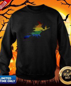 Gay Witch Lesbian LGBT Pride Halloween Sweatshirt