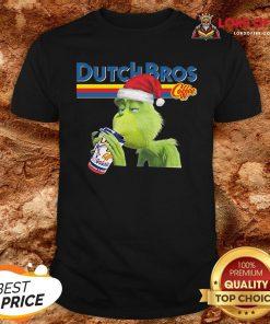 Good Grinch Xmas Ugly Dutch Bros Coffee Shirt Design By Lordoftee.com