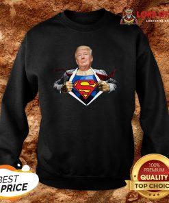 Good Trump Superman SweatshirtGood Trump Superman Sweatshirt Design By Lordoftee.com