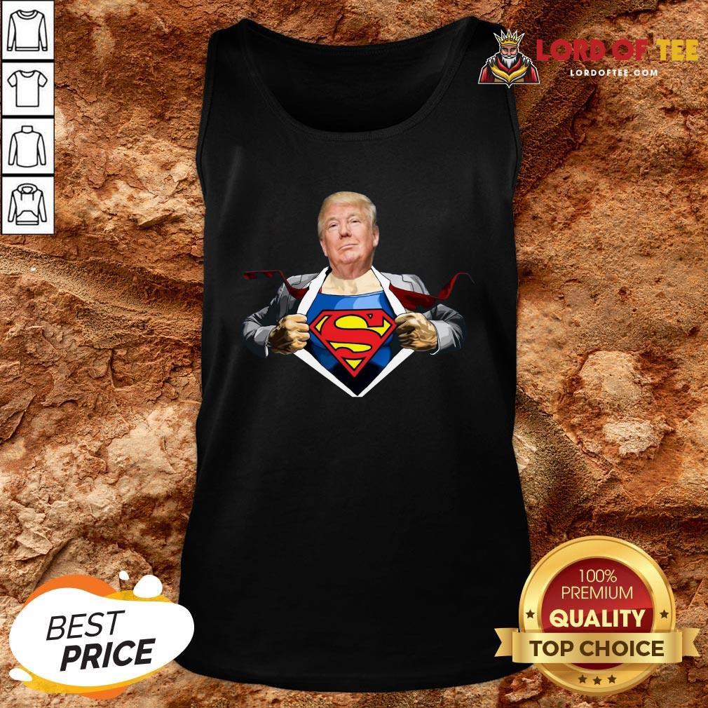 Good Trump Superman Tank Top Design By Lordoftee.com