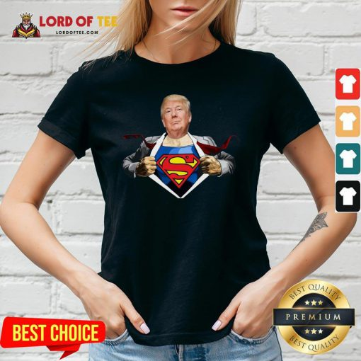 Good Trump Superman V-neck Design By Lordoftee.com