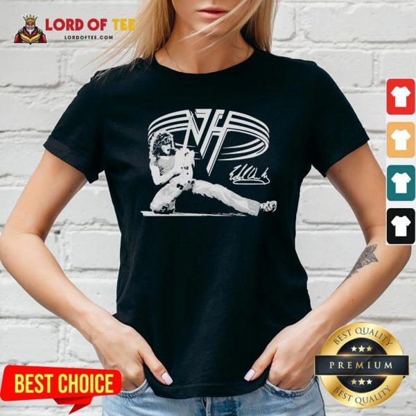 Good Van Halen Signature V-neck Design By Lordoftee.com