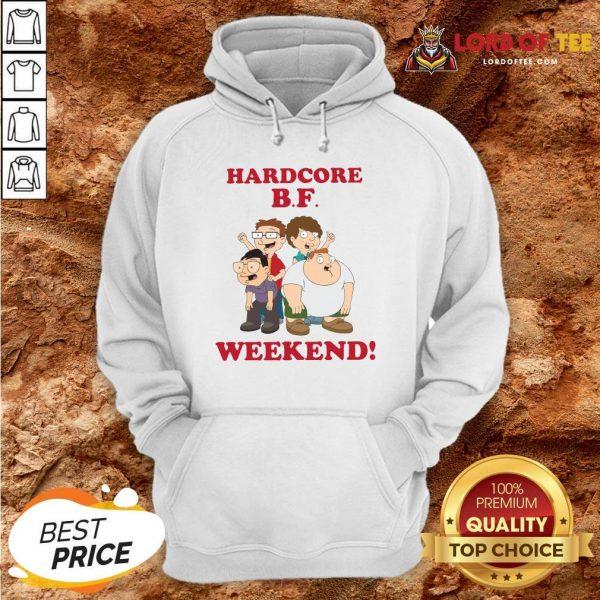 Hardcore B.F Weekend Cartoon Hoodie