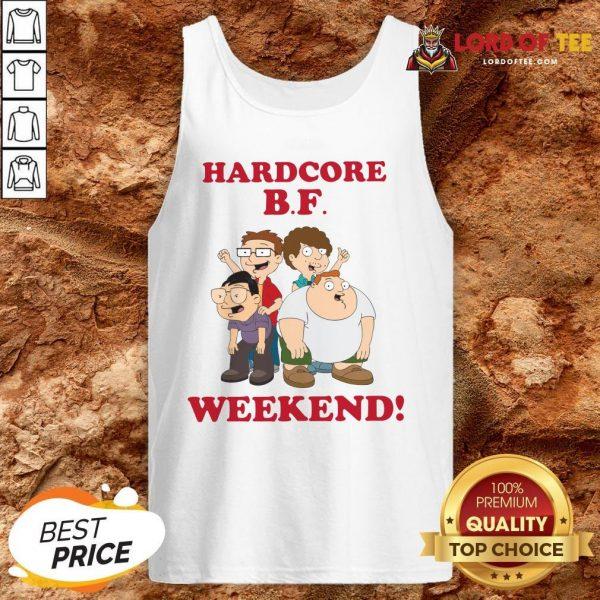 Hardcore B.F Weekend Cartoon Tank Top