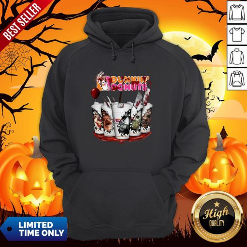 Horror Movie Characters Cup Dunkin' Donuts Hoodie