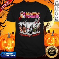 Horror Movie Characters Cup Dunkin' Donuts Shirt