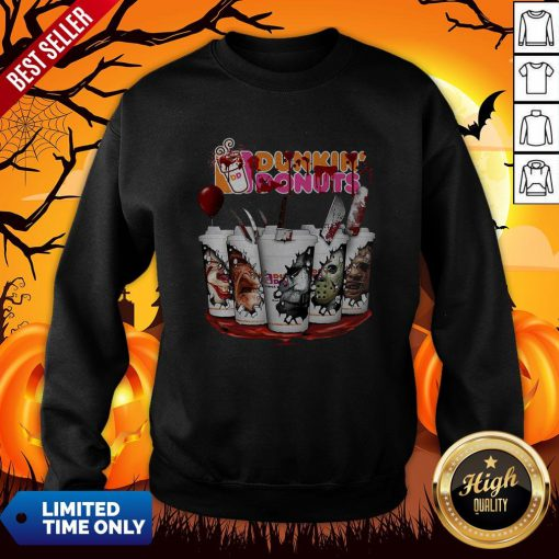 Horror Movie Characters Cup Dunkin' Donuts Sweatshirt