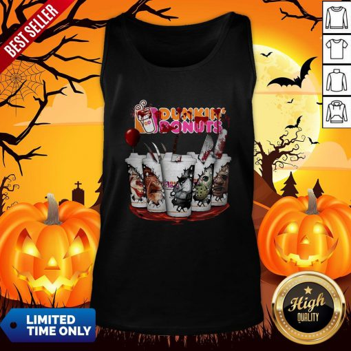 Horror Movie Characters Cup Dunkin' Donuts Tank Top