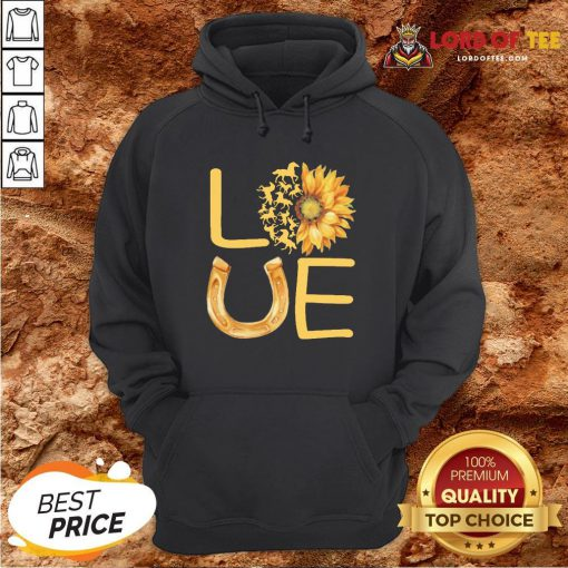 Horse Sunflower Love Gold HoodieHorse Sunflower Love Gold Hoodie