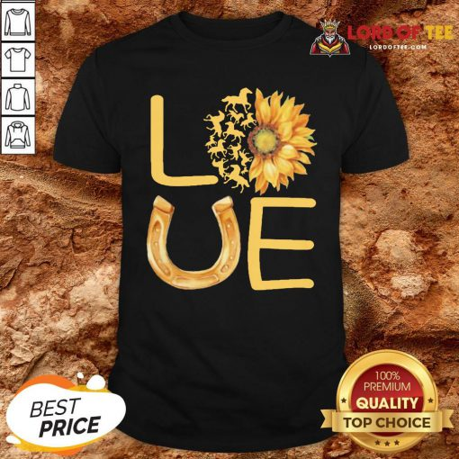 Horse Sunflower Love Gold Shirt