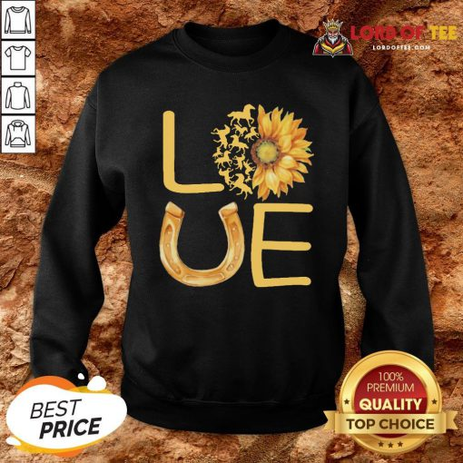 Horse Sunflower Love Gold Sweatshirt