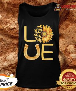Horse Sunflower Love Gold Tank Top
