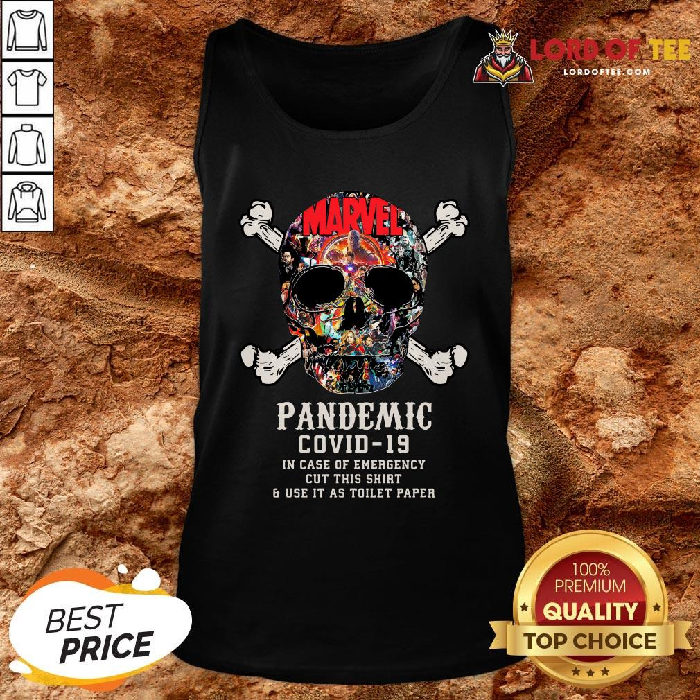 Hot Skull Pandemic Covid 19 In Case Of Emergency Cut This Shirt And Use It As Toilet Paper Tank Top Design By Lordoftee.com