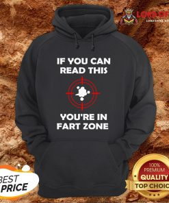 If You Can Read This You're In Fart Zone Funny Quote Humor T-Hoodie