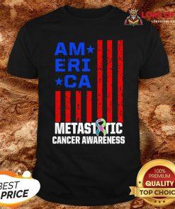 Metastatic Breast Cancer Awareness Learning US Warrior Shirt