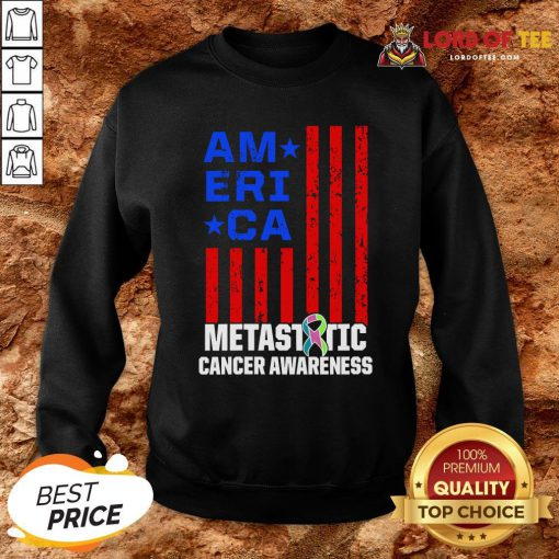 Metastatic Breast Cancer Awareness Learning US Warrior Sweatshirt