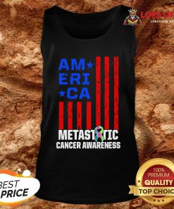 Metastatic Breast Cancer Awareness Learning US Warrior Tank Top