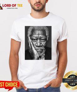Morgan Freeman Photographed Shirt