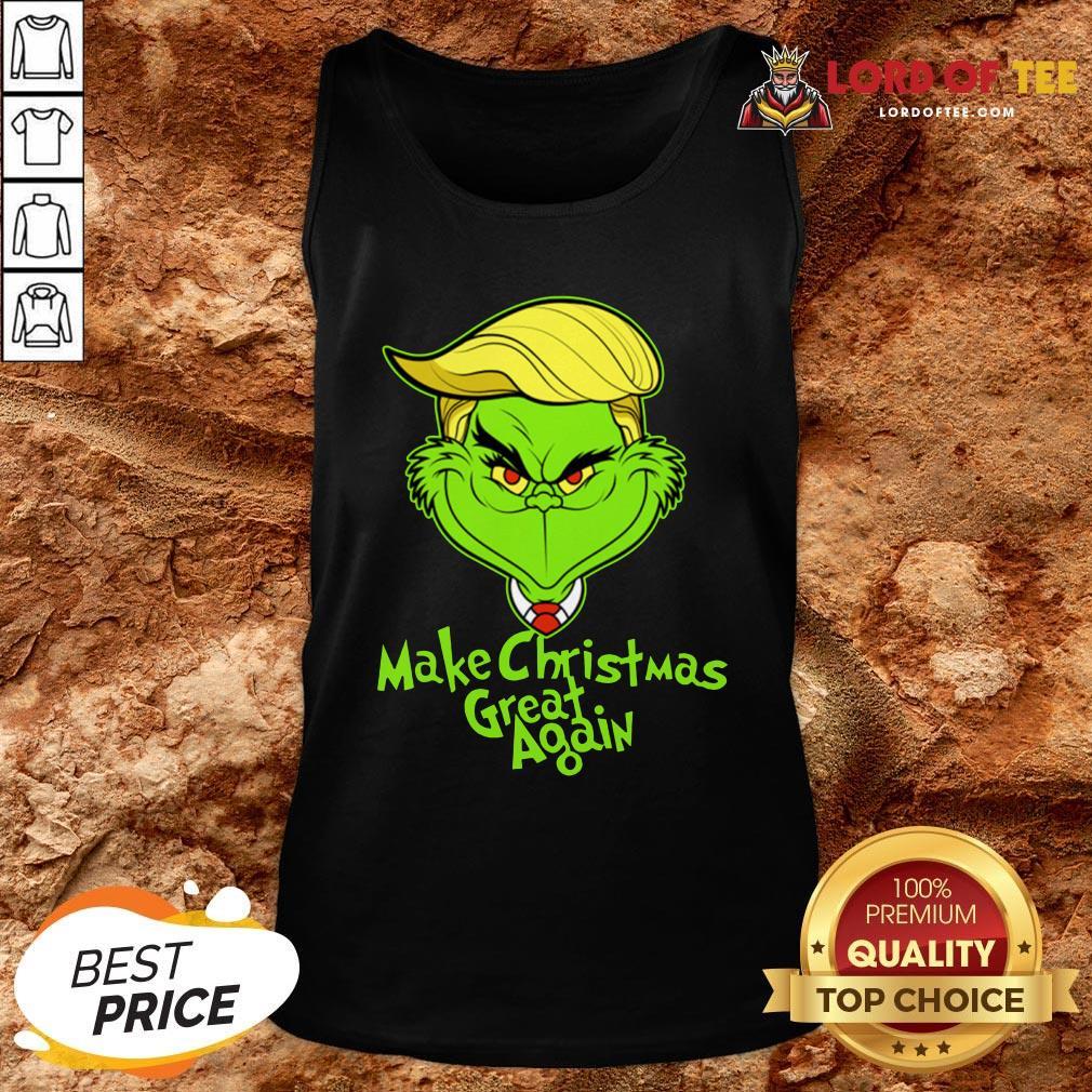 Nice Grinch Trump Make Christmas Great Again Tank Top Design By Lordoftee.com