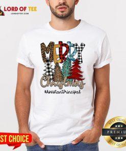 Nice Pines Merry Christmas #Assistantprincipal Shirt Design By Lordoftee.com