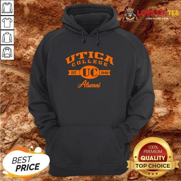 Nice Utica College Est UC 1946 Alumni Hoodie Design By Lordoftee.com