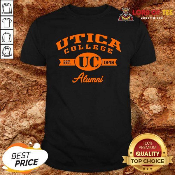 Nice Utica College Est UC 1946 Alumni Shirt Design By Lordoftee.com