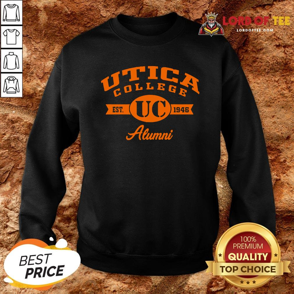 Nice Utica College Est UC 1946 Alumni Sweatshirt Design By Lordoftee.com