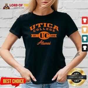 Nice Utica College Est UC 1946 Alumni V-neck Design By Lordoftee.com