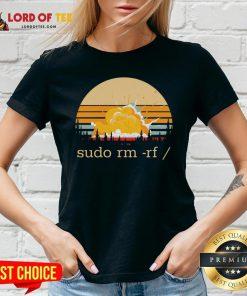 Official Sudo Rm Rf Vintage V-neck